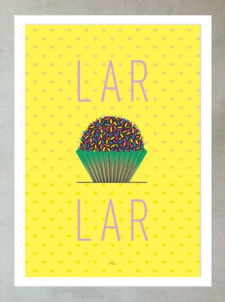 poster DOCE LAR, loja LOUIS, www.lojalouis.com.br / https://society6.com/product/home-lh1_print#1=45