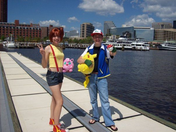 Ash and Misty Costumes by CharmandersFlame.deviantart.com