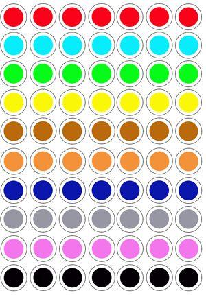 Colores plantillas tapones