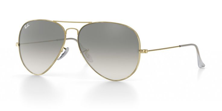 Classic Ray-Ban Aviator Sunglasses (Remix) Standard size (58-14) gold frame, gray gradient, transparent temple tips (Model RB3035)   www.ray-ban.com usa mobile customize rb-3025-aviator-large-metal-sunglasses?token=F04A8AE5-FFA6-4C94-815A-AEE4FC27A351