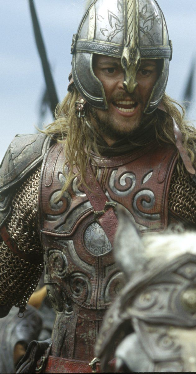 Eomer of The Rohirrim; favoe armor because of the man who wears it & the country he represents.