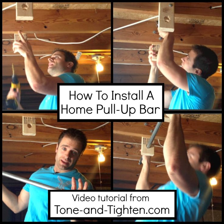 How To Install A Home Pull Up Bar With Tone And Tighten