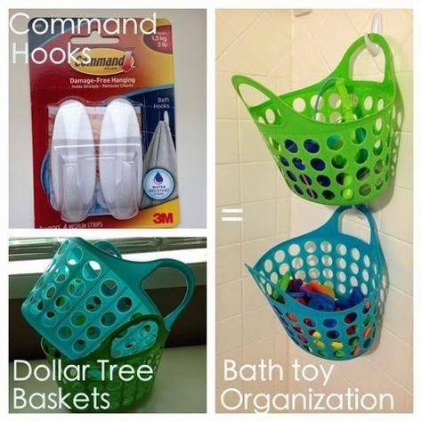 Kids' bath toy storage - genius