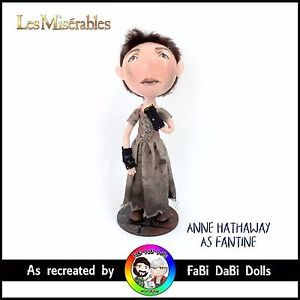 anne hathaway as fantine in les miserables peg doll by fabi dabi dolls available on our ebay store now