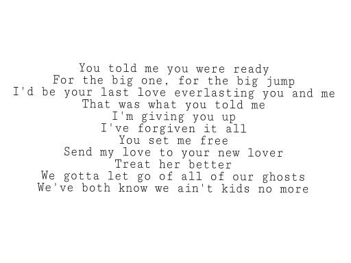 Adelle- Send My Love(to your new lover) lyrics.  I don't know, just get attached with this song recently.