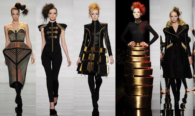 Fashion and Action: 80's Retro Futurism, Steampunk Gears & Robot Dancers Make Quite The Runway Show. Russian Fashion Week 2012