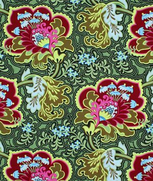 Amy Butler Gothic Rose Burgundy Fabric
