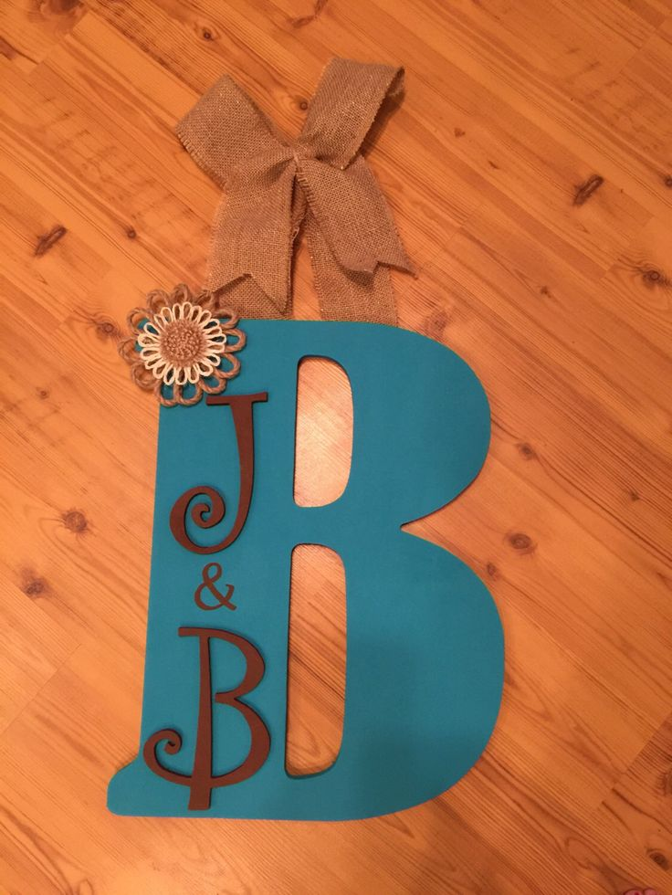 wooden letter door hanger great for gifts by happilymadebyheather on etsy https