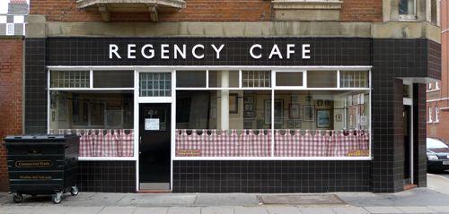Regency Cafe, Regency Street SW1 - taken by Emily of London Shop Fronts. Beautiful place!