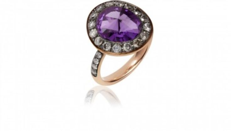 My ring from the one! #annoushka # #amethyst #blackdiamonds