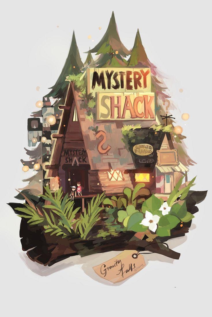 Gravity falls ~ Me encanta esta ilustración de la Mystery Shack