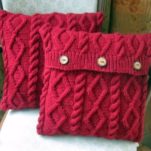 17 Best Knitted Cushion Covers Images On Pinterest Knit Crochet