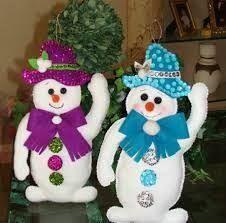 Resultado de imagem para adornos de navidad para ventanas de fomi