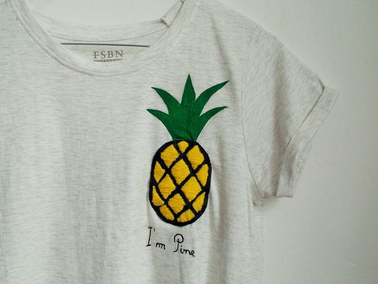 """""""I'm pine"""" tshirt  #handmade #intishopromania"""