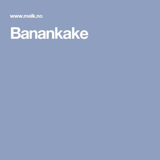 Banankake