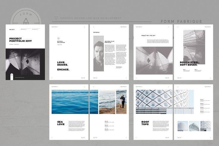 Minimalism Portfolio By Form Fabrique On Creativemarket Brochure - Digital brochure templates