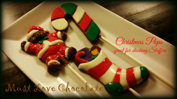 Hand Painted Chocolate Christmas Pops