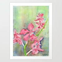 Art Print featuring Red Orchid by Ewally