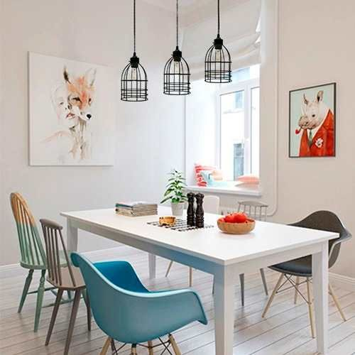 17 mejores ideas sobre lamparas colgantes para comedor en - Sillas colgantes del techo ...