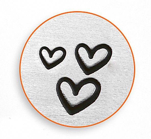 Little Freckle - IMPRESSART - 3 Hearts Metal Stamp - 1.5/2/3mm, £14.50 (http://www.littlefreckle.co.uk/impressart-3-hearts-metal-stamp-1-5-2-3mm/)