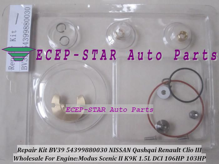 Turbo Repair Kit rebuild BV39 54399880030 54399800030 Turbocharger For NISSAN Qashqai For Renault Clio III Megane 2 K9K 1.5L DCi #Affiliate