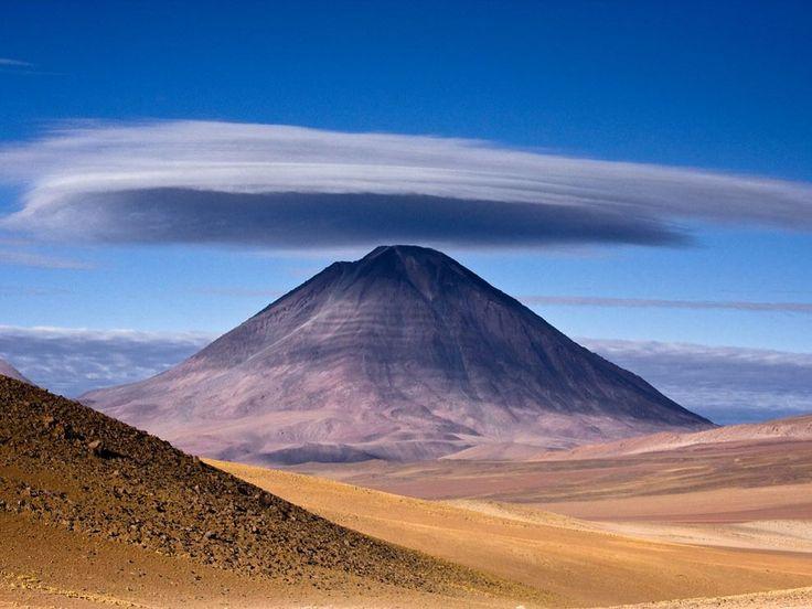 Licancabur VolcanoChile, Mountain, National Geographic, South America, Lenticular Clouds, Earth, Places, Bolivia, Licancabur Volcano