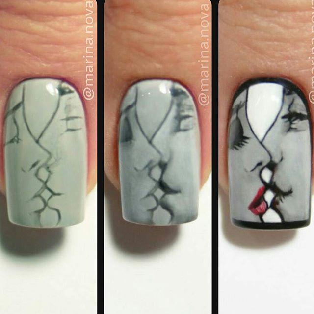 Credit to @marina.nova @marina.nova @marina.nova #nail #nails #nailstagram…