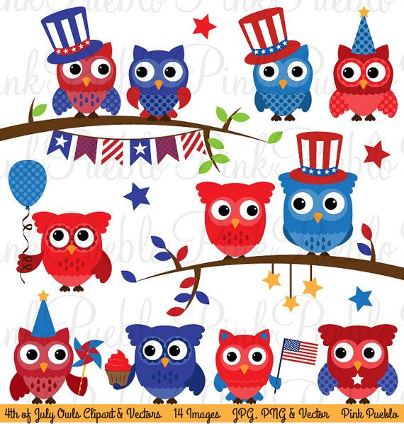 retro 4th of july clipart