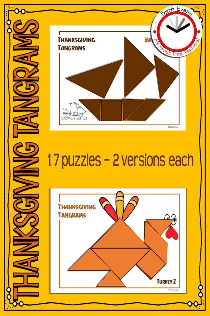 Tangrams Tangram Puzzles Thanksgiving Math Center Critical Thinking Gate Thanksgiving Math Centers Tangram Puzzles Thanksgiving Math [ 1104 x 736 Pixel ]