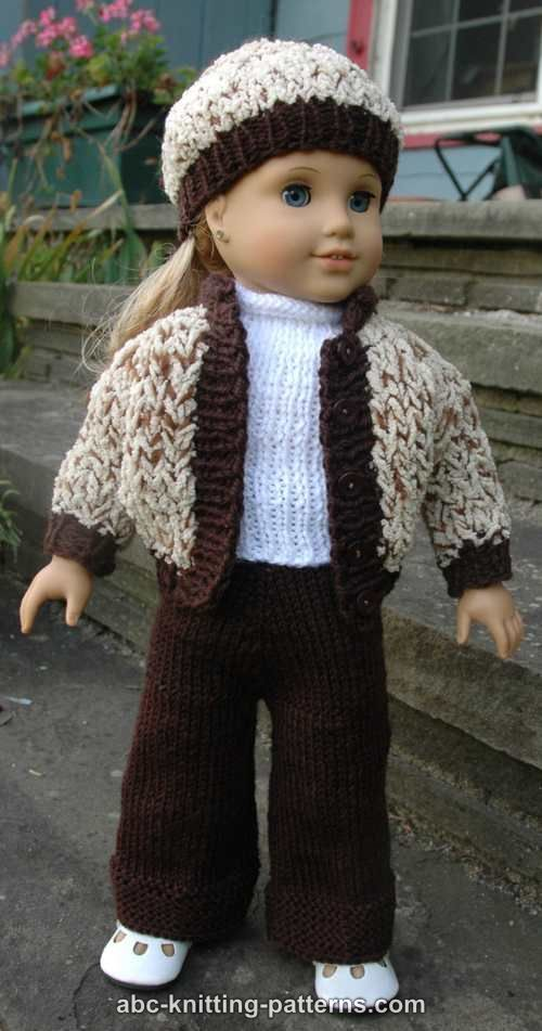 Free Knitting Pattern For Doll Hat : 17 Best images about DOLLS CLOTHES TO KNIT on Pinterest American girl dolls...