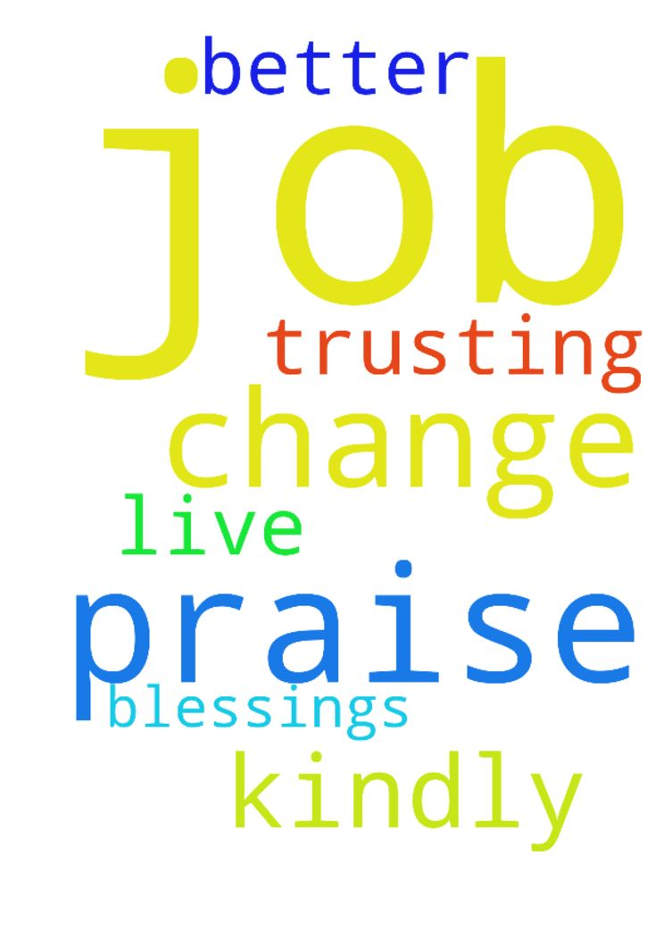 Praise the Lord...   I need job change - Praise the Lord... I need job change .kindly pray for better job.. I am trusting on Jesus ...with out his blessings I cant live.. Praise the Lord Posted at: https://prayerrequest.com/t/C8D #pray #prayer #request #prayerrequest
