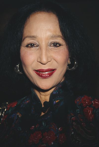 Former fashion model China Machado at Kenneth Jay Lane's 'Faking it' book party at Christie's New York City 1996