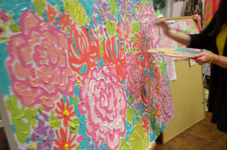 lilly canvas.Lilly Prints, Lilly Inspiration, Lilly Pulitzer Ceo, Prints Design, Lilies Painting, Painting Ideas, Crafty Crafts, Colors Painting, Inspiration Painting