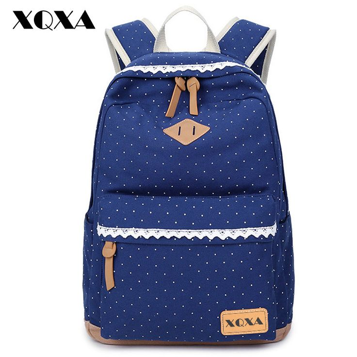XQXA Ethnic Women Backpack for School Teenagers Girls Vintage Stylish Ladies Bag Backpack Female Dotted Printing High Quality >>> You can get additional details at the image link.