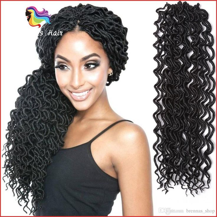 Curly Twist Hair 129047 2018 New Hairstyle Wavy Faux Loc Curly Braiding Hair Extensions