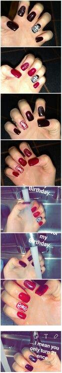 My 21st Birthday Jack Daniels gel mood  changing Nails!   #RedNails #JackAndCoke #Coke #JackDaniels #MoodNailPolish #21 #BirthdayNails  https://play.google.com/store/apps/details?id=com.roidapp.photogrid  iPhone  https://itunes.apple.com/us/app/photo-grid-collage-maker/id543577420?mt=8