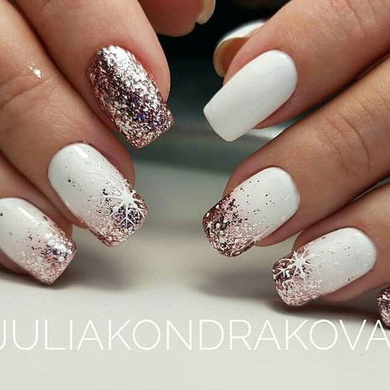 50 Trendy White Christmas Nails To Fall In Love With #christmasnails