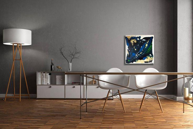 Acrylmalerei - Gemälde Fluent blue - Abstrakt Acryl Leinwand  - ein Designerstück von GalerieMiMo bei DaWanda