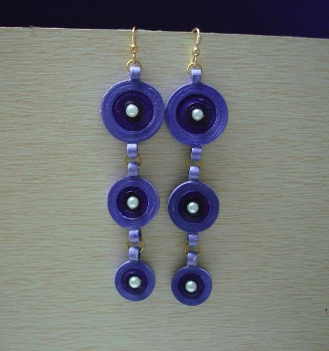 Blue and purple hangings