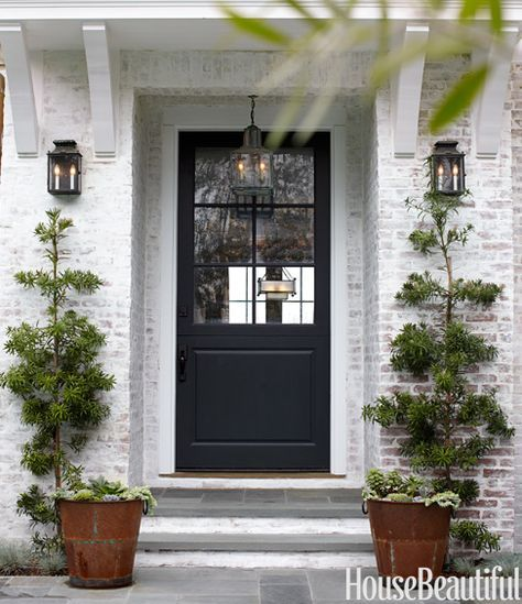 White-washed brick exterior! I love this... Not too many brick homes in New Orleans but if there were...