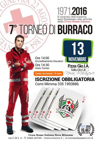 Torneo di Burraco, Raccolta Fondi - 13 Novembre 2016