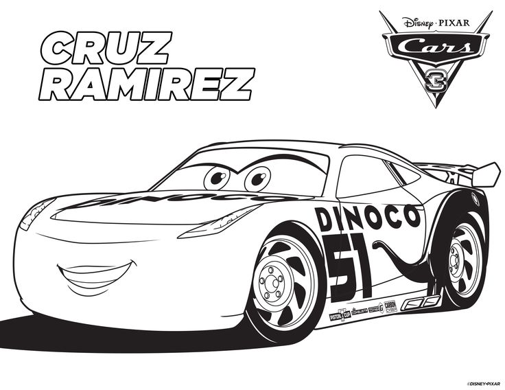 Cars 3 coloring pages -free printable coloring sheets for Cars 3 ...