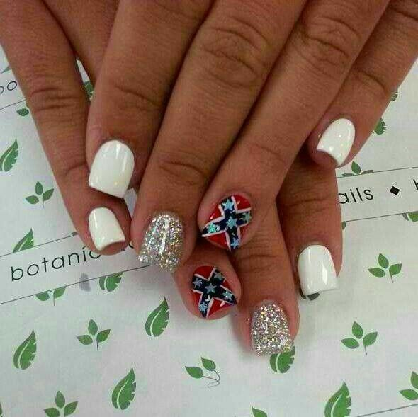 Rebel flag nails More - 20+ Ide Rebel Flag Nails Terbaik Di Pinterest Camo Nail Art, Ide