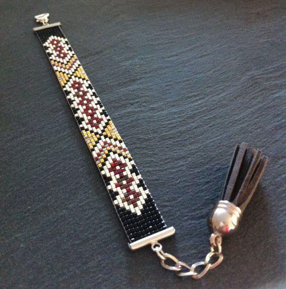 Brazilian touch Cuff Bracelet por TDFTheDreamFactory en Etsy