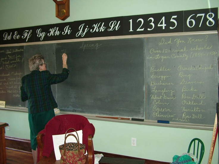 The blackboards with the cursive writing letters above.  And why...did our teachers always seem old?  ha ha