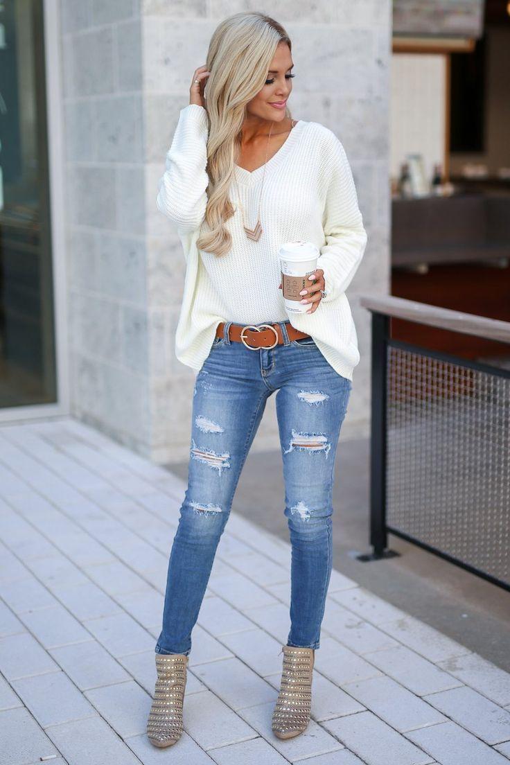 JUDY BLUE Distressed Skinny Jeans – Ava Wash – #Av…