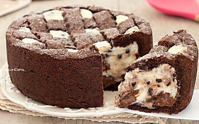 Crostata al cacao con ricotta e Nutella cremosa