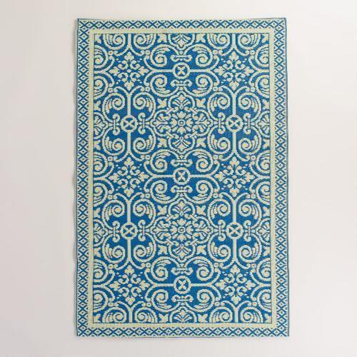Blue Tiles Rio Indoor Outdoor Mat
