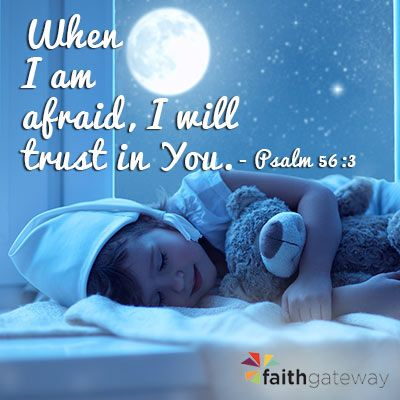 Give your child peace and reassurance before falling asleep with these Bible verses