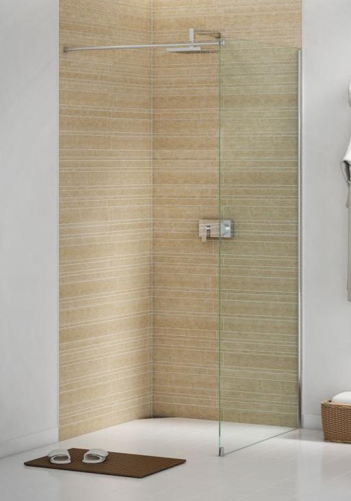 Strømberg Fast dusjvegg 700 mm, Klart Glass / Krom Profil 675157270 | BilligVVS.no